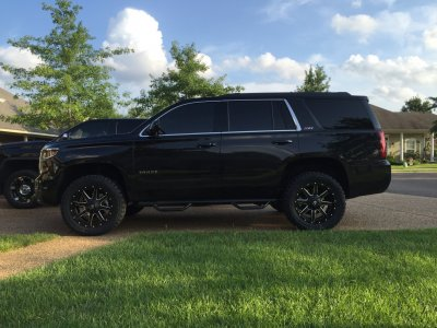 "2016 Tahoe Lifted >> 2016 Z71 Tahoe 2"" level on 285/55r20 